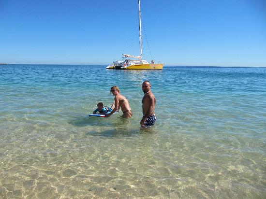 Chileno Beach : Us in the shallow waters.