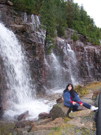 Bar Harbor, ME: Rain Falls in Acadia Nat. Park.