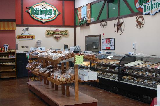 Rumpy's: Display cases filled with baked goods.