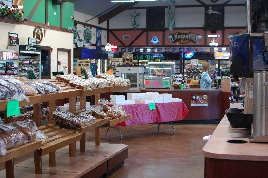"""Rumpy's: A view from the bakery toward the """"convenience store"""" section"""