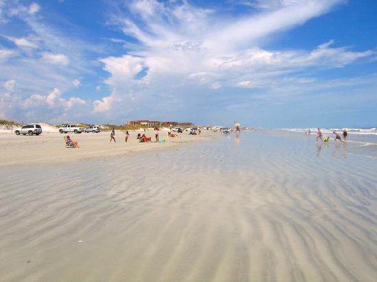 Saint Augustine Beach, Floryda: St. Augustine Beach - meilenweit weißer Sandstrand
