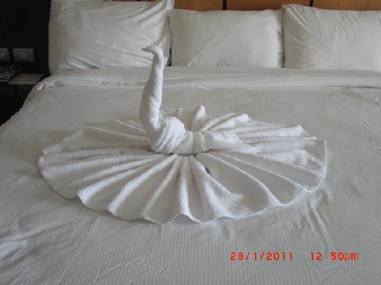 Cleopatra Luxury Resort Sharm El Sheikh: Towel on bed