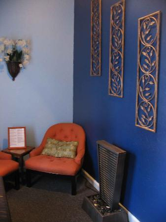 A Body ReNEW Massage Spa relaxation area.