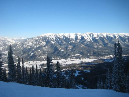 Fernie Slopeside Lodge: A view from the ski hill