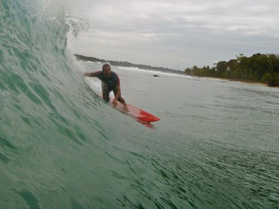 Island Path Panama : Me on a 'fun day' @ Tiger Tracks - 10 mins by boat from Island Path!