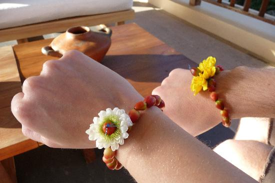 Banyan Tree Mayakoba: Welcome bracelets