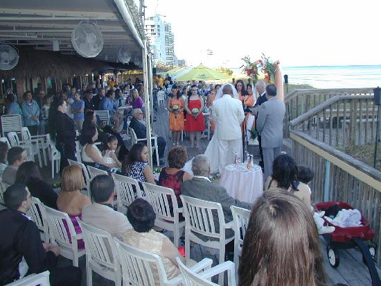 Shucker's: You just might find a wedding in progress....