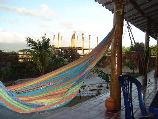 El Molino Tropical: hammock on the porch