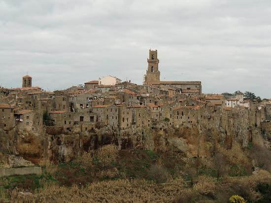 Pitigliano, Italy: View of the town