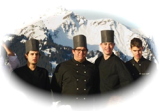 Hotel Chalet d'Alizee : Equipe de cuisine