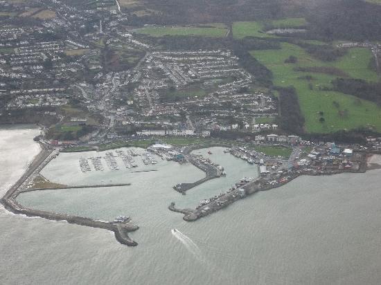 Dublín, Irlanda: vista dall'aereo prima di atterrare