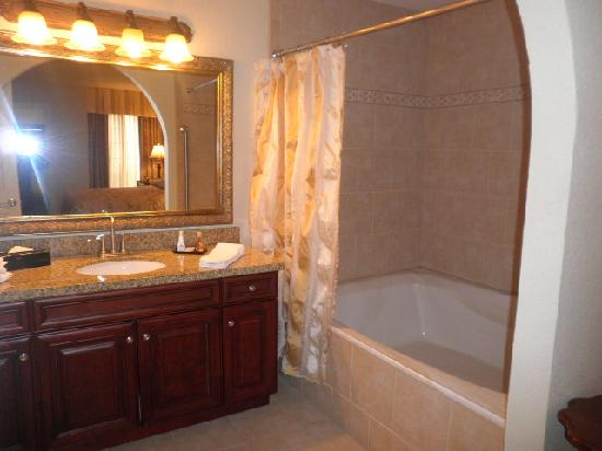Master Bedroom Vanity Tub Area Picture Of Holiday Inn Club Vacations At Desert Club Resort
