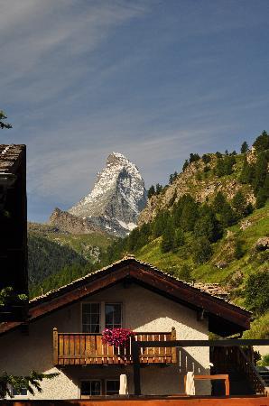 Coeur des Alpes: The Matterhorn as seen from patio
