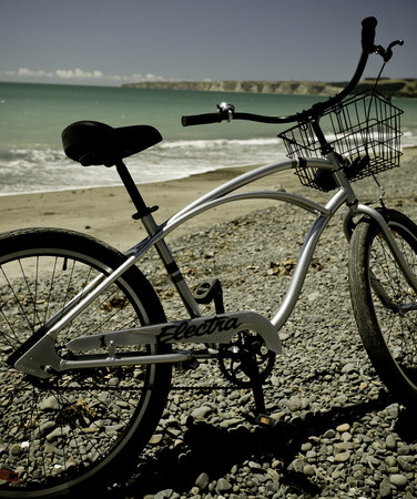 Te Awanga, Selandia Baru: Our cruiser bicycles