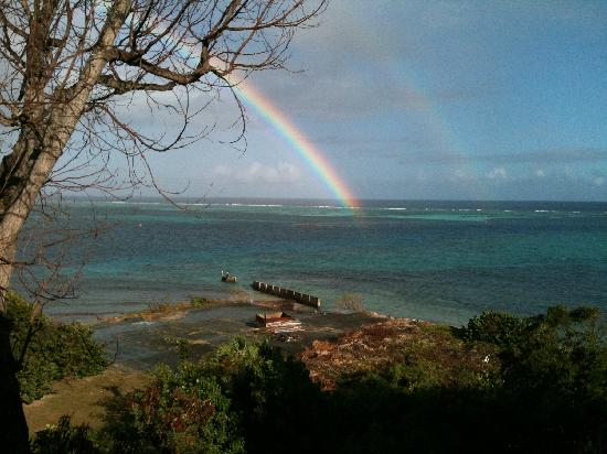 Hotel on the Cay: Morning rainbow