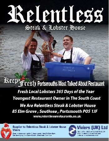 Relentless Steak & Lobster House: billboard
