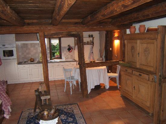 Au Jardin d'Emilie: le salon et cuisine