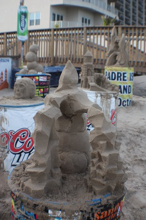 Sandcastle Lessons: The many castles that day.