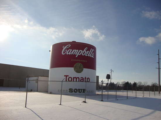 Napoleon, OH: Giant Tomato Soup Can