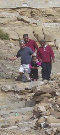 Crossing Worlds Journeys & Retreats: Hopi cliff trail with guide & granddaughter