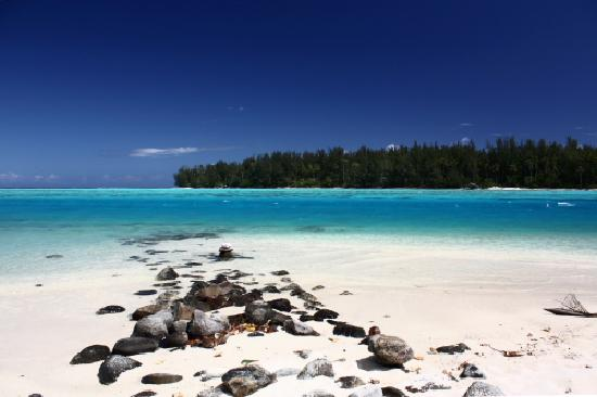 Papetoai, Polinesia Francesa: Spiaggia a destra dell'Hibiscus