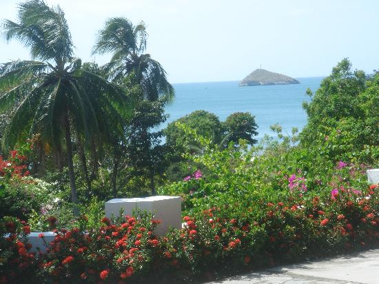Las Sirenas: the view from our cabana