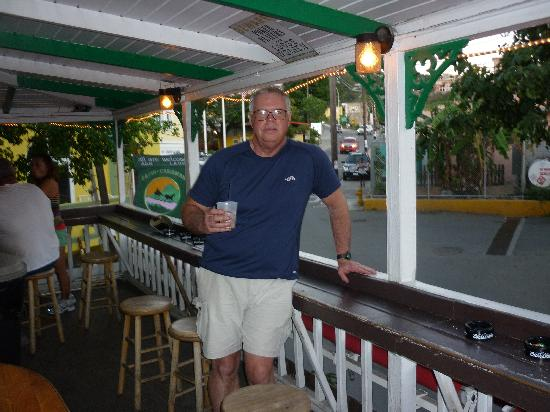 Inn at Tamarind Court: Enjoying a cold one at Quiet Mon, 100 yards away.