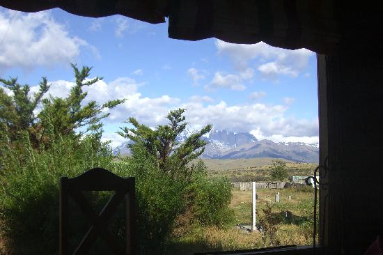 Estancia Tercera Barranca: View out of the common room
