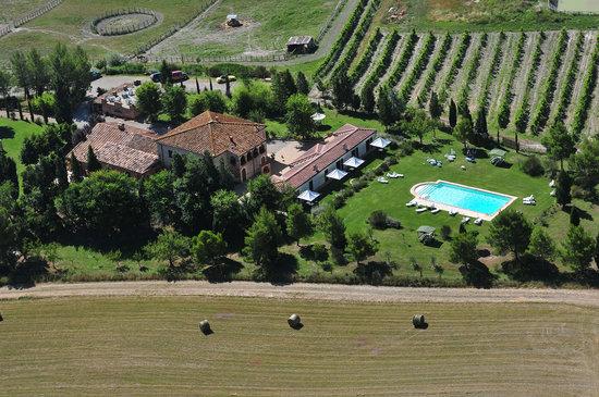 Monteroni d'Arbia, Italien: foto aerea