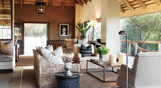 Londolozi Pioneer Camp Terrace Lounge