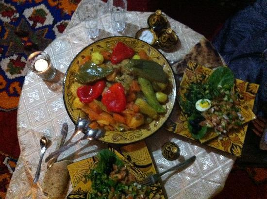 Les jardins de Tazzarine: la comida