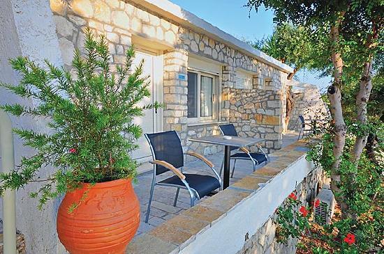 Gaios, Greece: Bungalow Veranda