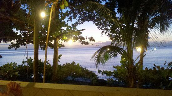 Sunset Bay Club & SeaSide Dive Center : The view from the patio of the restaurant