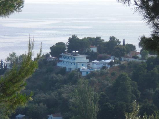 Xanthi Studios: View of Xanthi Studios from the hill opposite