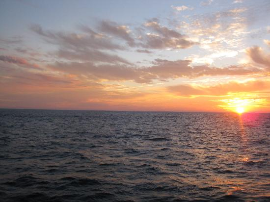 La Quebrada: sunset gone in five minutes