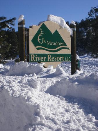 Elk Meadows River Resort: winter in Pagosa