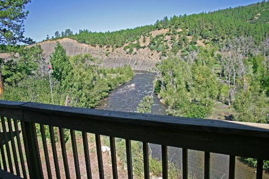 Elk Meadows River Resort: view from the Eagle View