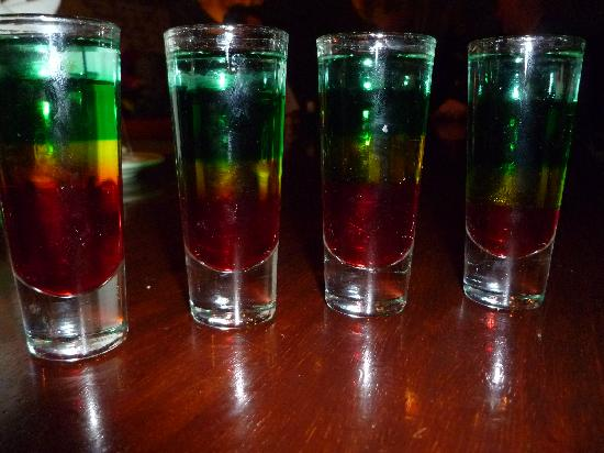 Iberostar Rose Hall Suites: Bob Marley shots . Making these is an art