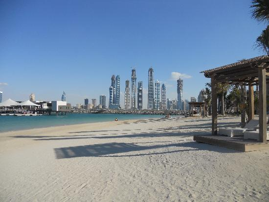 One&Only The Palm Dubai: View of beach, marina and 101