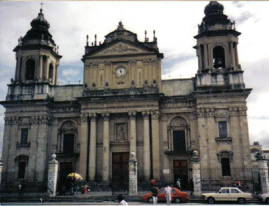 Metropolitan Cathedral Guatemala City built between 1782-1815,the  towers built in 1867