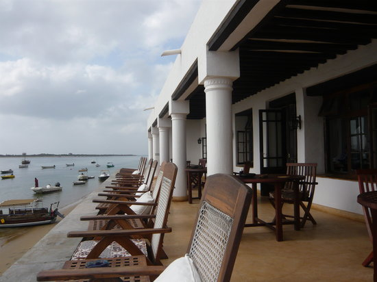 Peponi Hotel: the hotel terrace