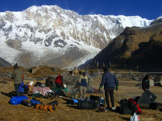 Ace the Himalaya - Private Day Tours: Food tent. Yummy!