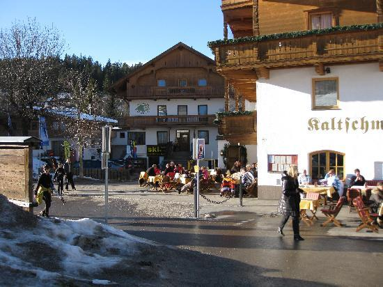 Pension Edelweiss: Street view from West