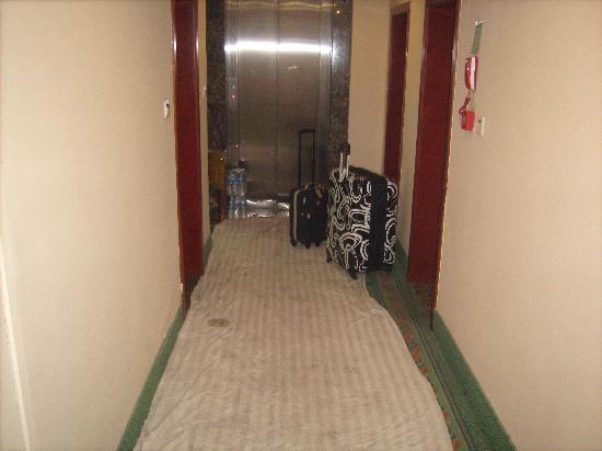 Green Tree Inn Harbin Polytechnic University Express Hotel : elevator for 1 and one luggage.  STAY AWAY