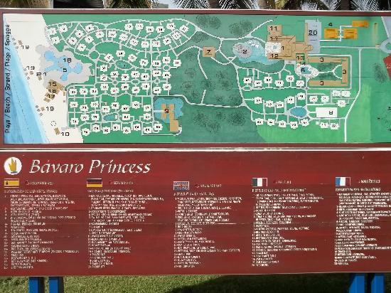 Map Of Resort We Were In Building 71 Picture Of Bavaro