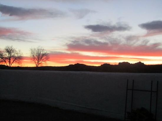 Presidio, TX: Sunrise viewed from kitchen of Big House