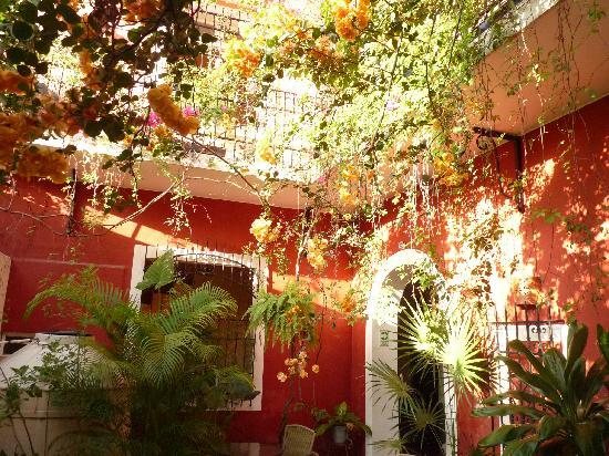 Hotel Julamis: petite cour interieure
