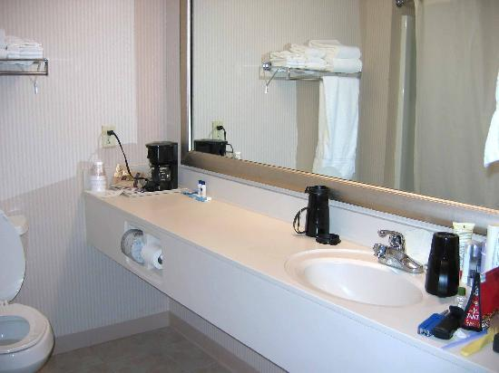Magnuson Grand Hotel Lakefront Paradise: Vanity/Bathroom