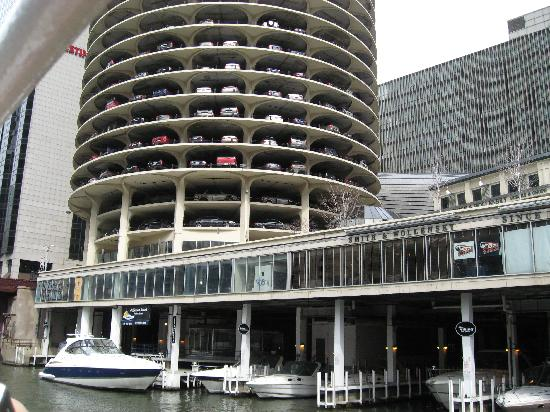 two are garages towers most city jmbc d illinois parking identical these garage large think fixedw marina people chicago