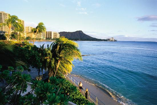 Остров Оаху, Гавайи: Diamond Head view from Waikiki, Oahu